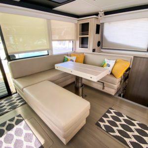 Leopard 45 Catamaran salon seating