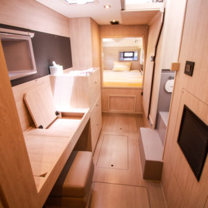 2020 Leopard 43 Power Catamaran LADY MARGARET owners cabin