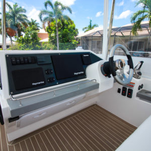 2020 Leopard 43 Power Catamaran LADY MARGARET helm