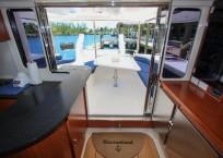2011 Leopard 47 Power Catamaran salon entrance
