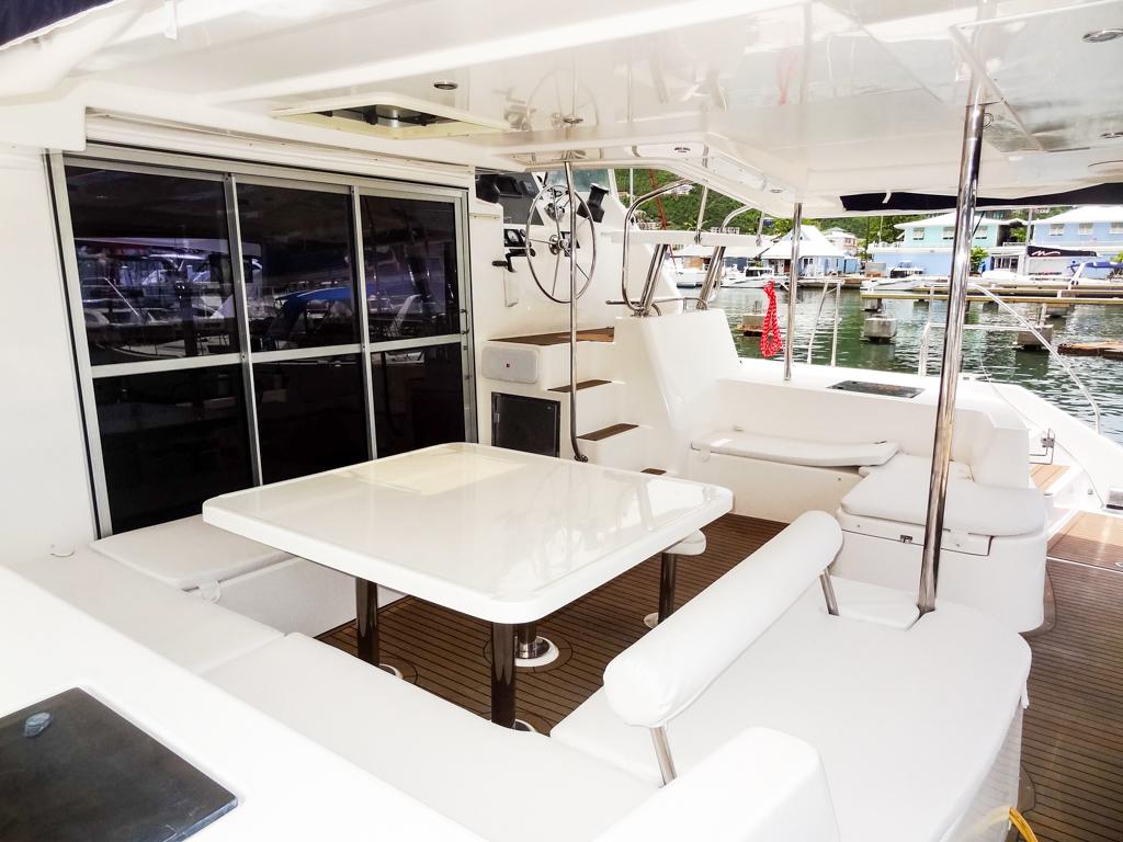 2013 Leopard 48 Catamaran KNOT ON CALL cockpit