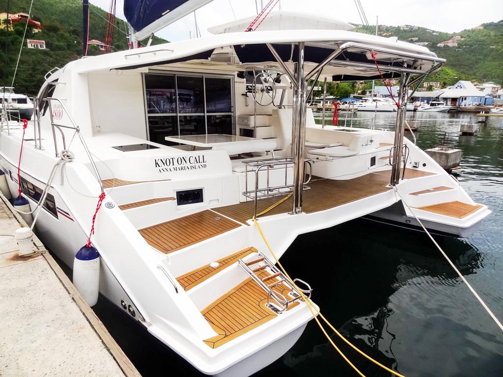 2013 Leopard 48 Catamaran KNOT ON CALL aft