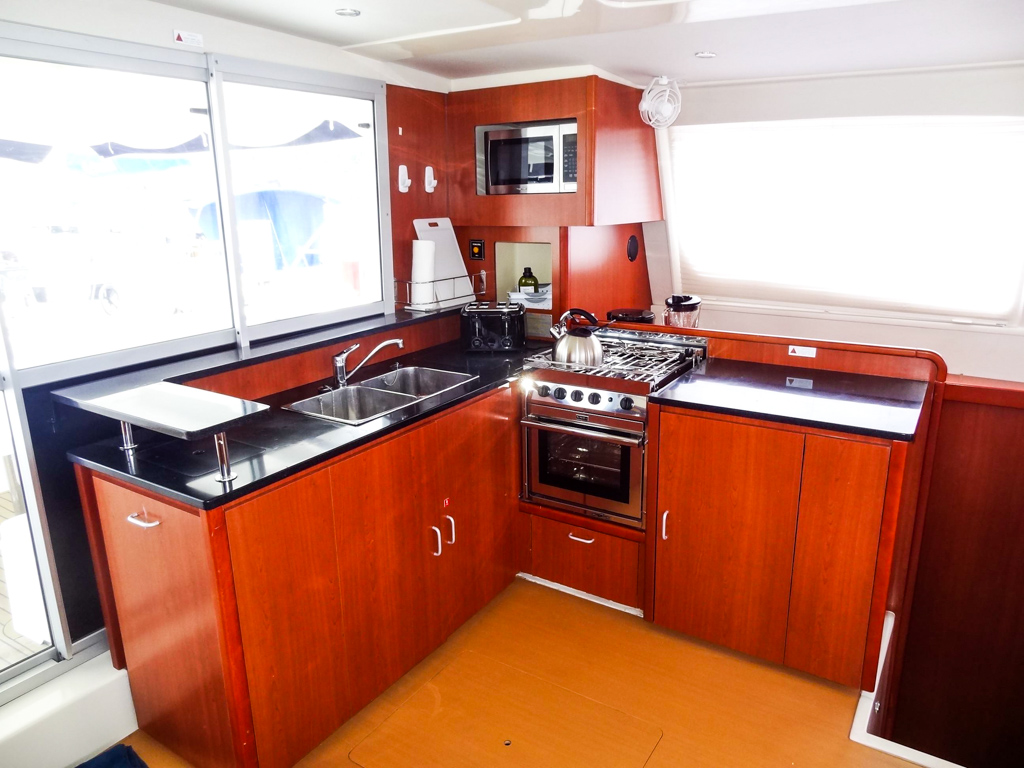 2013 Leopard 48 Catamaran KNOT ON CALL galley