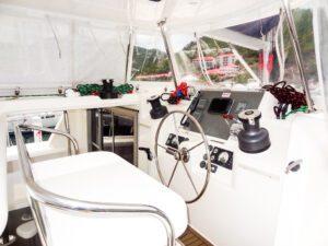2013 Leopard 48 Catamaran KNOT ON CALL helm
