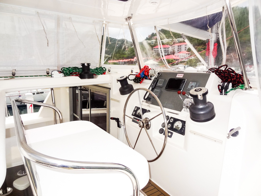 2013 Leopard 48 Catamaran KNOT ON CALL helm