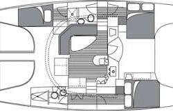 Manta 42 Catamaran Layout