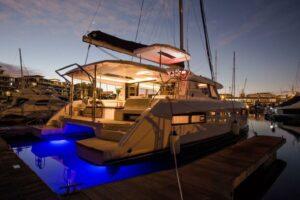 Leopard 45 Catamaran sold - at dock
