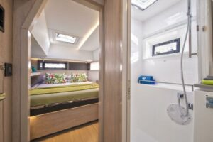 Leopard 45 Catamaran sold - cabin
