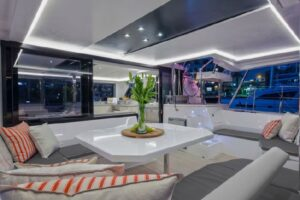 Leopard 45 Catamaran sold - salon seating