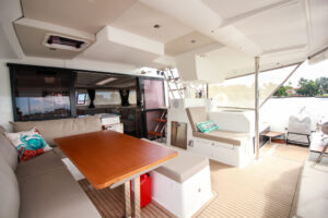 2019 Fountaine Pajot Saona 47 Catamaran FAIR WINDS aft deck