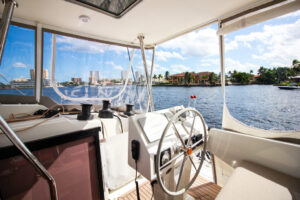 2019 Fountaine Pajot Saona 47 Catamaran FAIR WINDS helm station