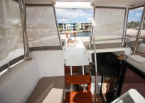 2019 Fountaine Pajot Saona 47 Catamaran FAIR WINDS to deck from helm