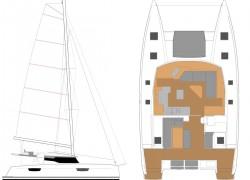 Fountaine Pajot Saona 47 Catamaran - layout