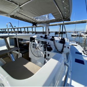 2017 Fountaine Pajot Lucia 40 Catamaran for sale DAY DREAMING helm