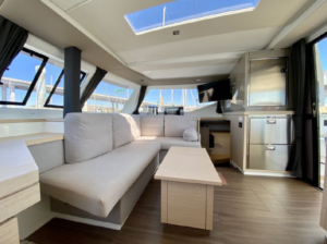 2017 Fountaine Pajot Lucia 40 Catamaran for sale DAY DREAMING salon seating