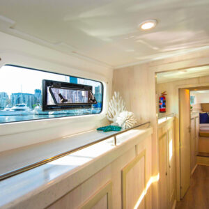 2020 Royal Cape 57 Fly Catamaran-port mid cabin wide