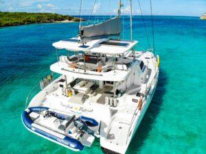 2020 Royal Cape 57 Fly Catamaran-profile moored