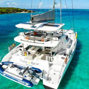 2020 Royal Cape 57 Fly Catamaran-profile moored