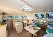 2020 Royal Cape 57 Fly Catamaran-salon and galley