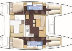 Lagoon 39 Catamaran 4-cabin layout