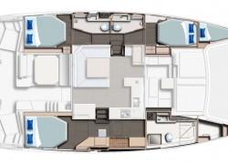 Leopard 45 Catamaran layout