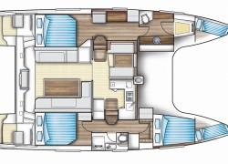 Nautitech 40 Open Catamaran - layout