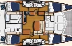 Leopard 44 Catamaran 4-cabin layout
