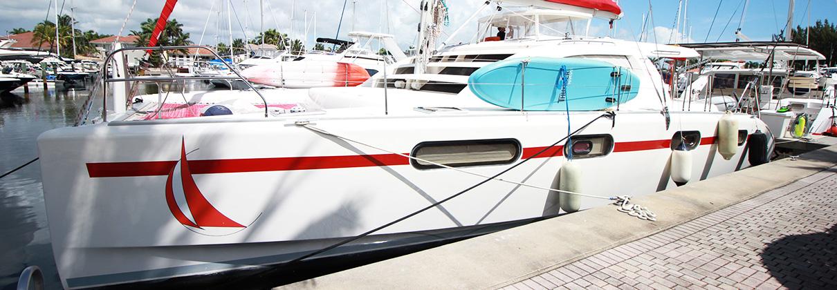 2008 Leopard 46 Catamaran PRESCRIPTION 4 LIVING banner