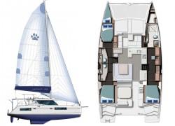 2021 Leopard 45 Catamaran layout