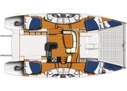 Leopard 46 Catamaran 4 cabin layout