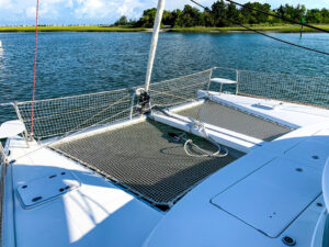 2018 Lagoon 380 Catamaran BLUE MIND bow