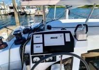 2018 Lagoon 380 Catamaran BLUE MIND helm